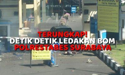 Ledakan Bom di Mapolrestabes Surabaya (Ilustrasi Nusantaranews)