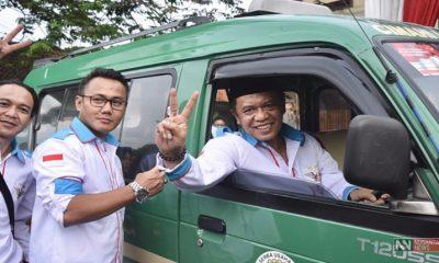 Paguyuban Pengemudi Jabar Dukung Anton Charliyan (Foto DOk. Nusantaranews0