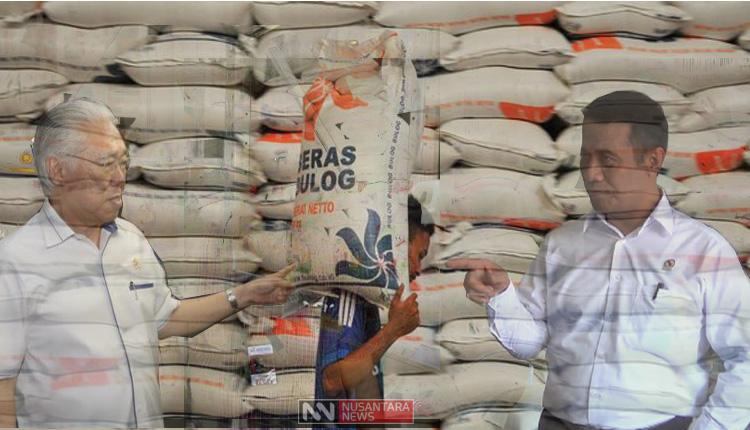 Pro Kontra Impor Beras (Ilustrasi Nusantaranews)