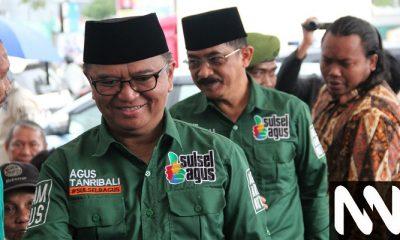 Pasangan calon gubernur dan wakil gubernur Sulsel, Agus Arifin Nu'mang dan Ahmad Tanribali Lamo. (Foto: Istimewa)