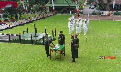 Prosesi Pelantikan Jabatan Sebagai Komandan Batalyon Armed-8/105 (Foto Dok. Nusantaranews)
