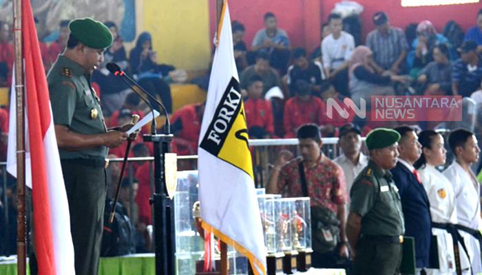 Resmikan Kejurda Forki, Pangdam Brawijaya Incar Bibit Atlet Berkualitas. (FOTO: NUSANTARANEWS.CO/Singgih Pambudi Arinto)