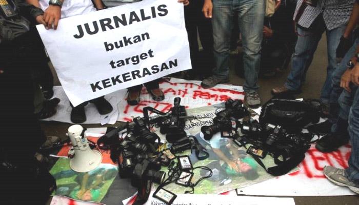 Stop kekerasan terhadap wartawan. (Foto: Ilustrasi/Istimewa)