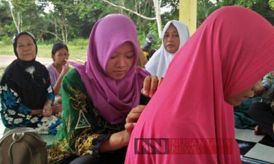 IPPNU Muara Kelingi Bantu Kesehatan 150 Warga Dengan ATS. (FOTO: NUSANTARANEWS.CO/Depati)