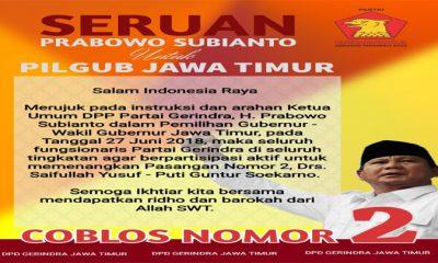 Instruksi Prabowo untuk Menangkan Gus Ipul-Puti Jelang Coblosan. (FOTO: NUSANTARANEWS.CO/Setya)