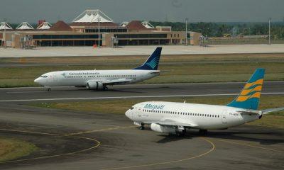Garuda Indonesia dan Merpati Airlines. (FOTO: Istimewa)