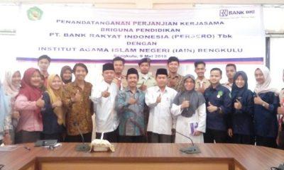 Pertemuan Pimpinan Organisasi Mahasiswa (ORMAWA) IAIN Bengkulu pada Rabu (7/6/2018)