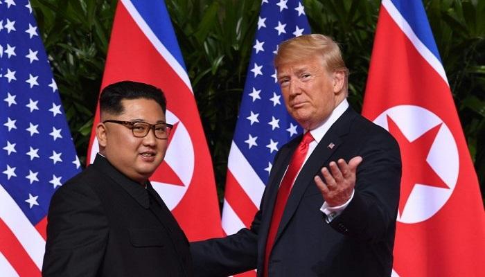 kim jong un, donald trump, pertemuan singapura, kim-trump, denuklirisasi, pemimpin korut, semenanjung korea, program nuklir, nuklir korea, nusantaranews