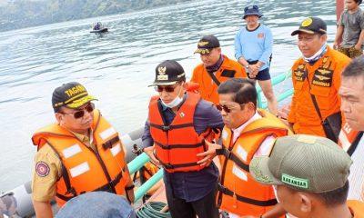 Menteri Sosial Idrus Marham mengunjungi keluarga korban tenggelamnya KM. Sinar Bangun 5 di Pelabuhan Fery Tiga Ras Simalungun Sumatera Utara. (FOTO: Humas Kemensos)