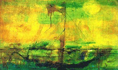 Perahu karya Zaini. (Foto: zulfikarpratama)