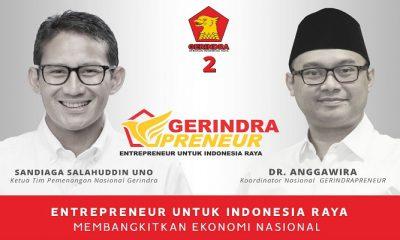 gerakan gerindrapreneur, gerindrapreneur, gerakan sandiaga uno, keterpurukan ekonomi, kebangkitan ekonomi indonesia, pertumbuhan ekonomi, gerakan ekonomi gerindra,