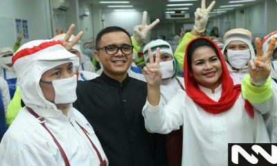 Calon wakil gubernur Jawa Timur Puti Guntur Soekarno mengunjungi Banyuwangi, Sabtu (2/6) ditemani Bupati Abdullah Azwar Anas. (Foto: Setya N/NUSANTARANEWS.CO)