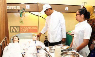 Saifullah Yusuf Selaku Wakil Gubernur Jatim Meninjau Tempat Bagian Pelayanan Rumah Sakit Pada Acara Kunjungan Pelatihan Ke BLK LN PT Prima Duta Sejati Gempol Pasuruan.(FOTO: NUSANTARANEWS.CO/Setya)