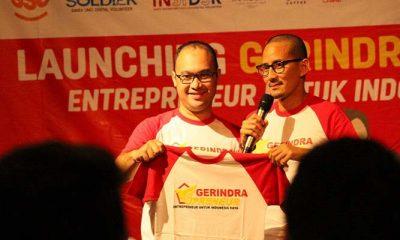 Launching Gerindrapreneur, Rabu (6/6/2018) di Jakarta. (Foto: Istimewa)