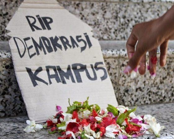 Matinya Demokrasi (Foto Dok. LPM Perspektif)