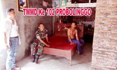 Selama Satu Bulan Kegiatan, Personel TMMD Ke 102 Probolinggo Bermalam di Rumah Warga