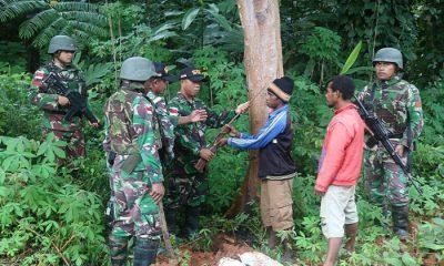 senjata jenis mouser, senjata api warga, warga boven digoel, senjata milik warga, satgas pamtas, pamtas indonesia-papua nugini, yonif raider 500, nusantaranews