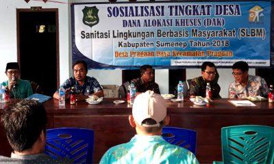 Sosialisasi SLBM di Balai Desa Pragaan Daya. (FOTO: NUSANTARANEWS.CO/Mahdi Al Habib)