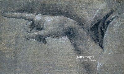 Study for right hand of angel by Leonardo da Vinci (1452-1519) (Foto Gatty Images)