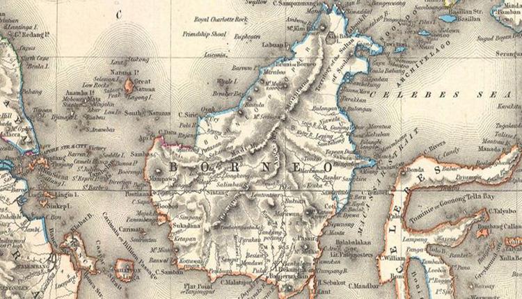 Peta Kalimantan (Ilustrasi/Nusantaranews)