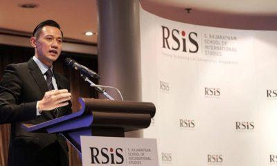 Agus Harimurti Yudhoyono saat mengisi kuliah umum di S. Rajaratnam School of International Studies (RSIS), Singapura. (FOTO: NUSANTARANEWS.CO/Setya)
