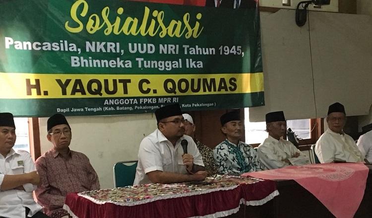 Gus Yaqut Sosialisasikan Empat Pilra (Foto Nusantaranews)