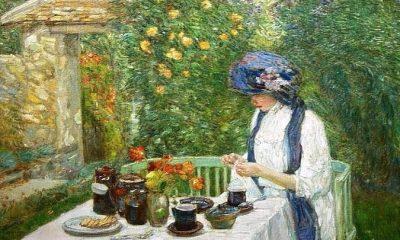 "Ikhlas Bagai Bungi, Bahagia Hanya Setelapak. (Lukisan: ""Childe Hassam Garden""/ artcyclopedia.com)"