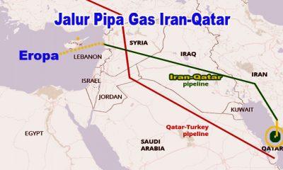 Jalur pipa gas Iran-Qatar ke Eropa