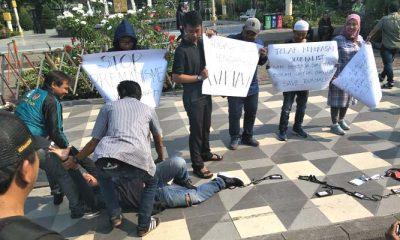 aliansi wartawan surabaya, wartawan surabaya, wartawan online, wartawan aksi, kekerasan wartawan, wartawan jember, nusantaranews