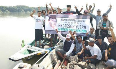 Kelompok Nelayan kota Surabaya mendeklarasikan dukungan untuk Yusril Ihza Mahendra untuk maju di Pilpres 2019. (FOTO: NUSANTARANEWS.CO/Setya)