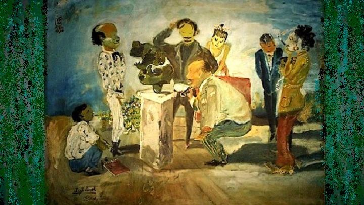 Kepada Bapak-Bapak yang Kami Curigai. (Lukisan: S. Soedjojono berjudul High Level. Foto: okvideofestival)