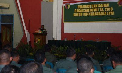 Kepala Seksi Logistik (Kasi Log) Korem 084/Bhaskara Jaya, Letkol Inf Chusnul Chuluk. (FOTO: NUSANTARANEWS.CO/Pendam v Brawijaya)