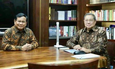 Ketua Umum DPP Partai Gerindra Prabowo Subianto dan Ketua Umum DPP Partai Demokrat Susilo Bambang Yudhoyono (SBY)