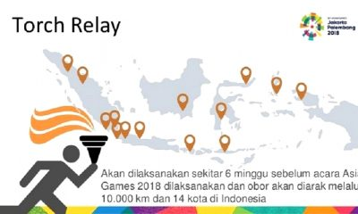 torch relay asian games, asian games 2018, pawai asian games 2018, pawai obor asian games, pawai asian games malang, nusantaranews