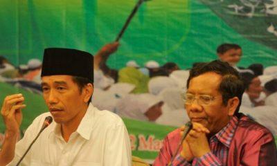 Mahfud MD bersama Presiden Joko Widodo. (Foto Istimewa)
