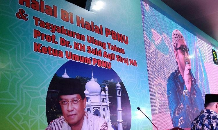 PBNU Pererat Persatuan dengan Halal Bi Halal (Foto Achmad S Nusantaranews)