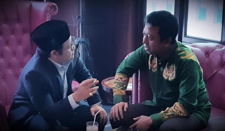 Presiden Jokowi sebut Cak Imin (Muhaimin Iskandar) dan Gus Rommy (Romahurmuziy) bersaing. (FOTO: Istimewa/CGG)