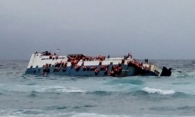 Saat KM Lestari Maju tenggelam di Selat Selayar. (FOTO: NUSANTARANEWS.CO/Istimewa)