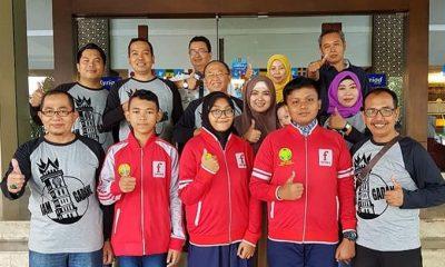 Siswa Kontingin Kabupaten Sumenep saat mengikuti OSN 2018 di Padang Sumatera Barat. (FOTO: Syaikhol Amien)
