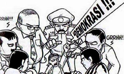 bungkam demokrasi, alat penguasa, polisi alat penguasa, persekusi, kriminalisasi, aspirasi masyarakat, nusantaranews