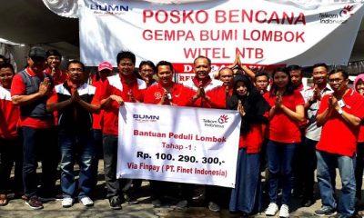 finpay, finnet indonesia, telkom, telkomgroup, donasi telkom, posko telkom, bantuan lombok, gempa lombok, bencana lombok, donasi digital telkom, nusantaranews