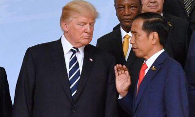 Donald Trum bersama Presiden Jokowi (Foto Credit)
