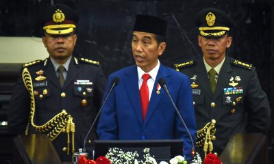 Pidato Kenegaraan tentang pencapaian pemerintah dan kinerja lembaga tinggi negara menjelang Peringatan Hari Ulang Tahun Kemerdekaan RI ke-73, di depan Sidang Tahunan MPR (DPR-DPD). (Foto: dok. Setkab)