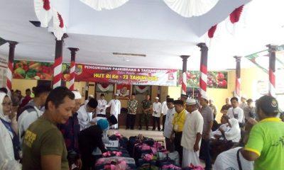 Jemaah Haji asal Jember mulai berdatangan dan disambut oleh Camat, Danramil maupun Kapolsek. (FOTO: nusantaranews.co/sis24)