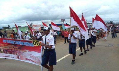 perayaan karnaval, karnaval kemerdekaan, karnaval papua, perbatasan indonesia-papua nugini