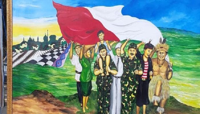 Korem 083/Baladhika Jaya menggelar lomba lukis bertemakan kebudayaan dan kebhinekaan. (Istimewa/Nusantaranews)