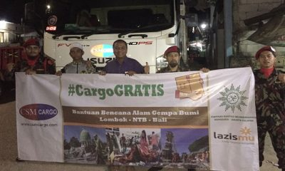 csm cargo, lazismu, muhammadiyah, mdmx muhammadiyah, bantuan lombok, gempa lombok, korban gempa