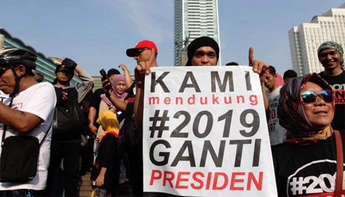 Masyarakat Suarakan 2019 Ganti Presiden (Foto Credit)
