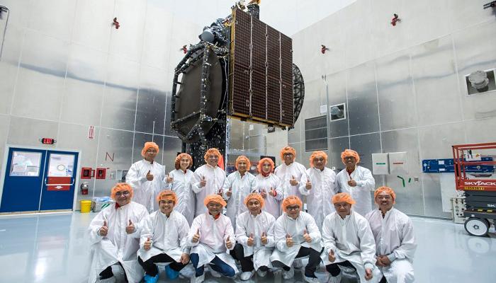 satelit, satelit merah putih, satelit telkom, menteri bumn, peluncuran satelit telkom, nusantaranews