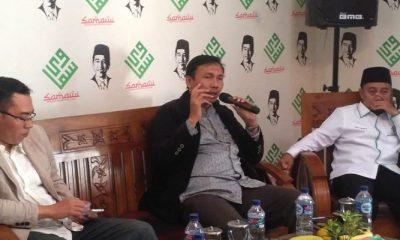 Ketua Dakwah Khusus Pengurus Pusat (PP) Muhammadiyah Muhammad Ziyad saat menjadi pemateri pada diskusi bertajuk Pilpres: Ijtima' Ulama dan Kepemimpinan dalam Islam yang digelar Solidaritas Ulama Muda Jokowi (Samawi) di Kawasan Menteng, Jakarta Pusat, Minggu (5/8/2018). (Foto: NUSANTARANEWS.CO/Romadhon)